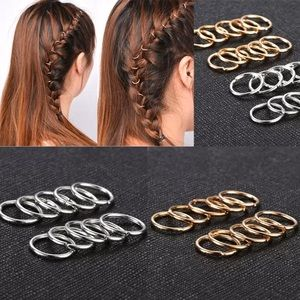 Accessories - Silver or Gold Hip Hop Braid Rings Hair Jewelry